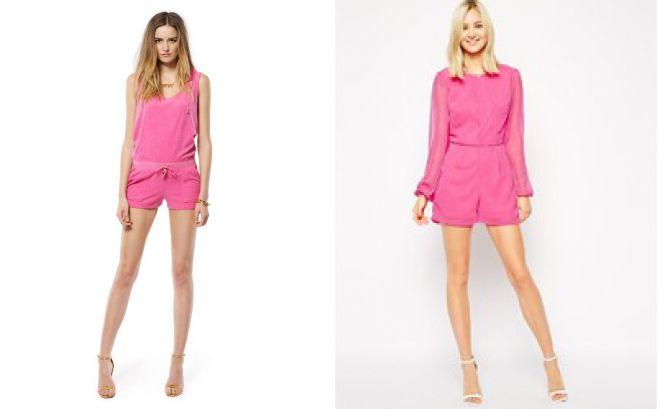 розовый комбинезон с шортами