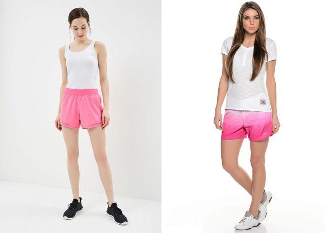 розовые спортивные шорты