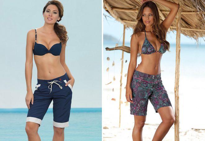 длинные пляжные шорты