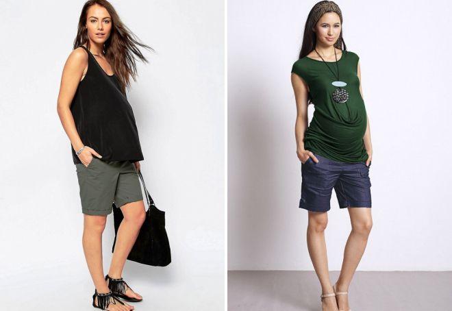 удлиненные шорты для беременных