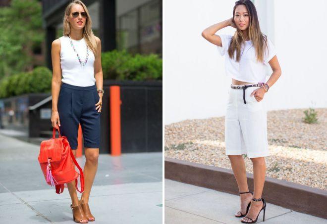 с чем носить женские длинные шорты