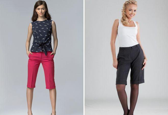 женские удлиненные шорты