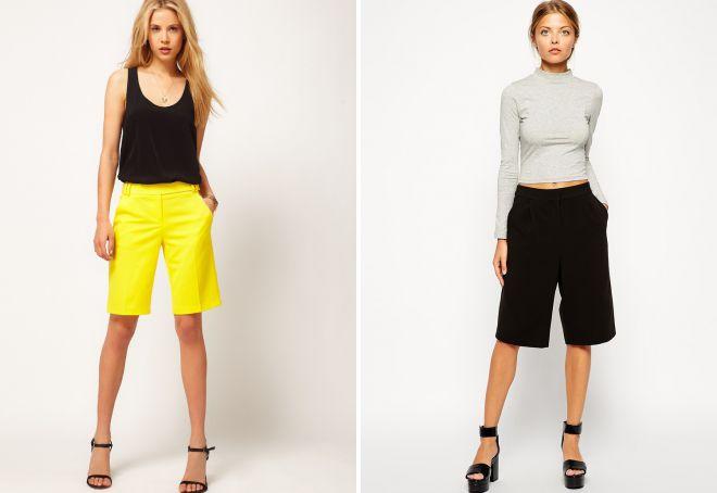 длинные шорты для женщин