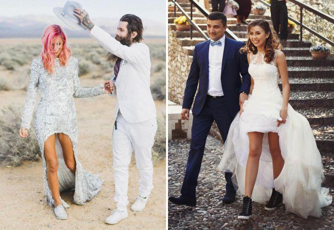 платье и кеды стиль