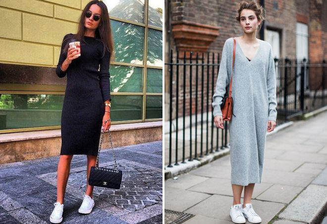 можно ли носить платье с кедами в 2018