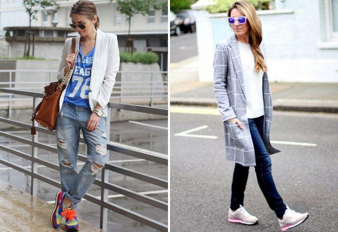51c9f586 Модные кроссовки под джинсы – как носить, подвернутые, укороченные ...