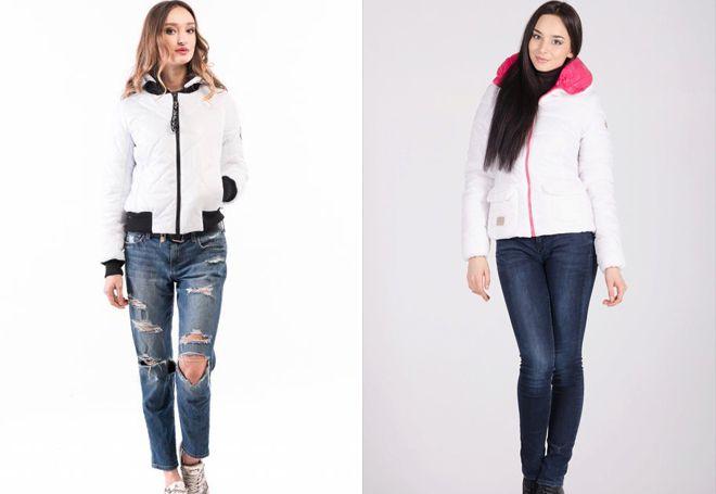 с чем носить белую короткую куртку