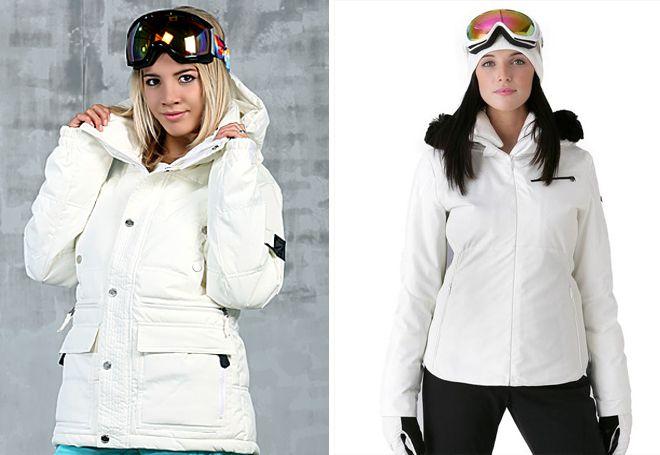 белая куртка для сноуборда