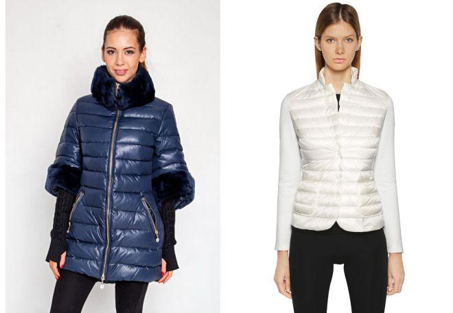 куртка монклер с трикотажными рукавами
