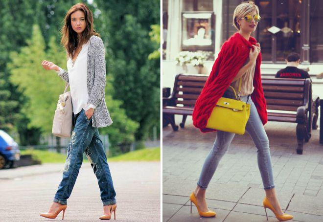 как носить кардиган с джинсами