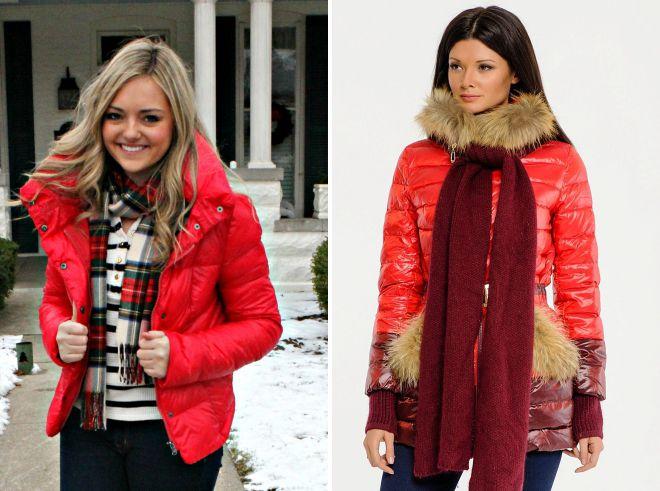 какой шарф подойдет к красной куртке