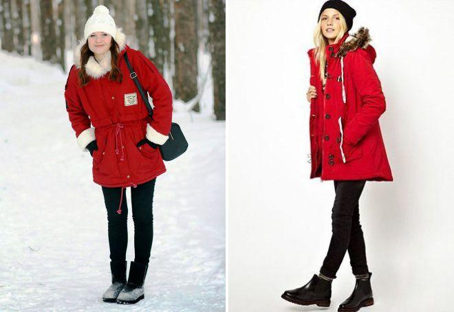 красная куртка парка
