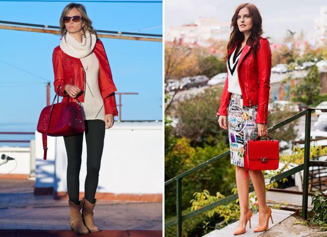 аксессуары к красной куртке