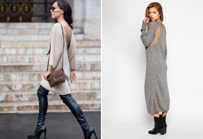 024d6c08f77 С чем носить платье-свитер – 40 фото стильных образов в платье-свитере