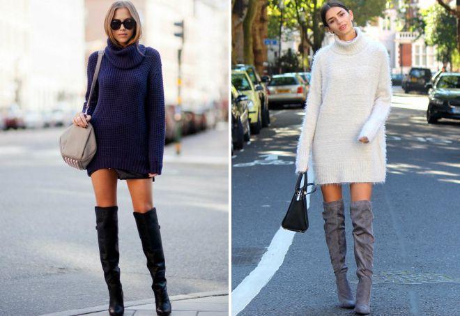 2d457872f2d С чем носить платье-свитер – белое