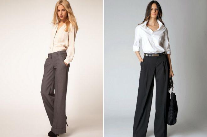 брюки классического покроя