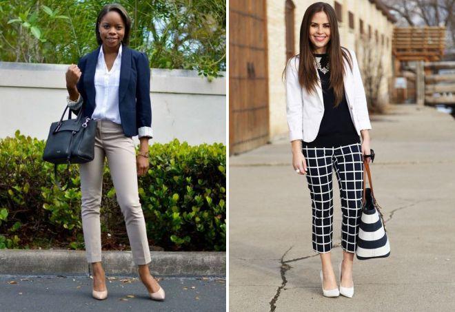 короткие классические брюки