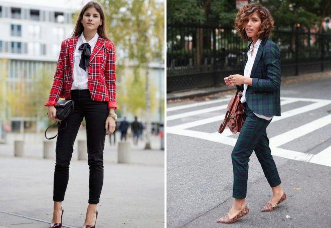 укороченные классические брюки