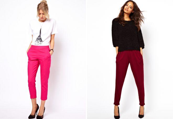 женские классические брюки на резинке