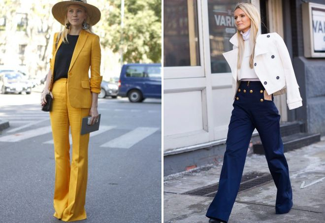 классические брюки клеш