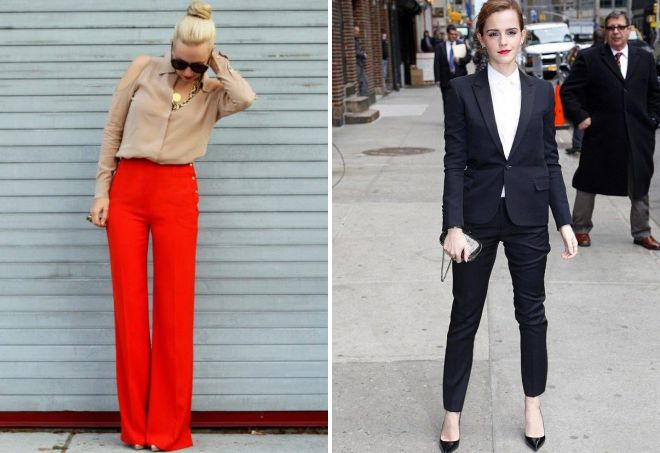 женские классические брюки 2018 модные тенденции