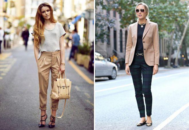 с чем носить женские классические брюки