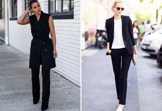 женские черные классические брюки