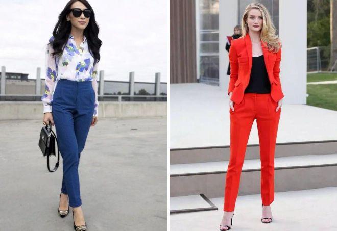 женские классические зауженные брюки