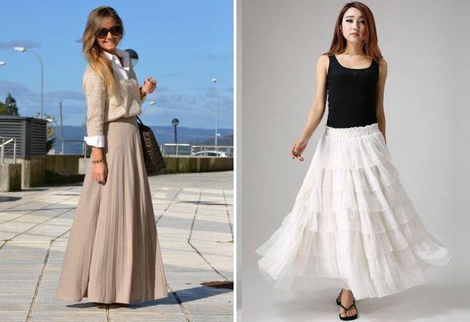 льняная длинная юбка с чем носить