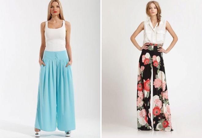 длинная юбка брюки с чем носить