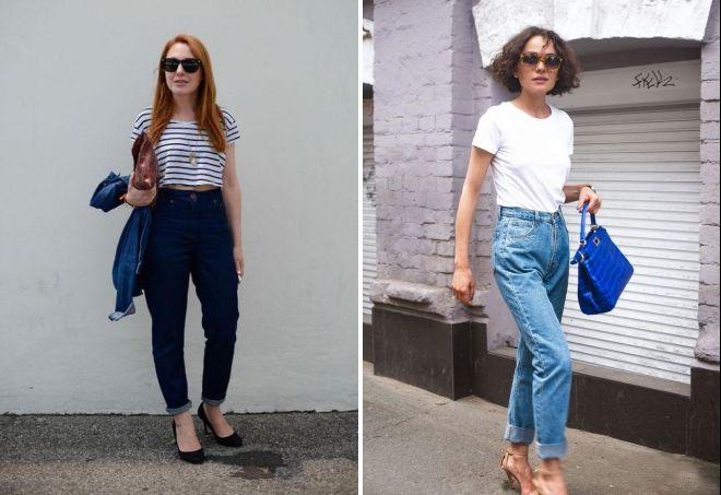 с чем носить джинсы бананы летом