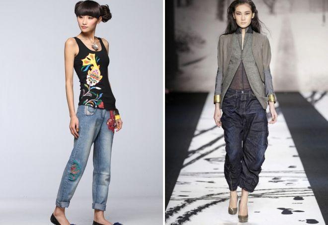 с чем носить женские джинсы бананы