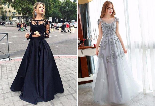63c710db42079d7 Самые красивые длинные платья на выпускной – спереди короткие сзади ...