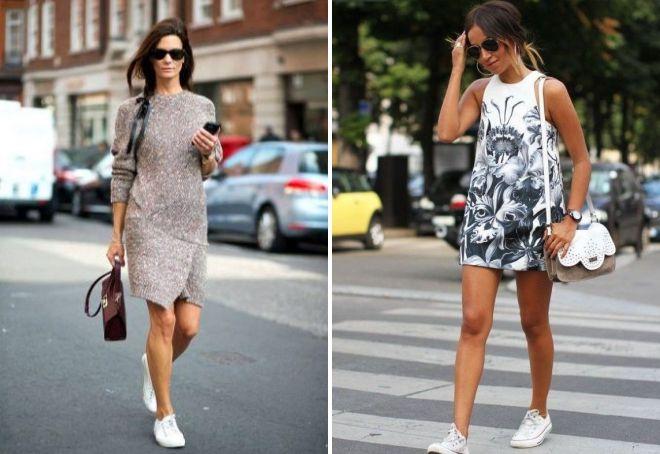 платье с кроссовками 2017