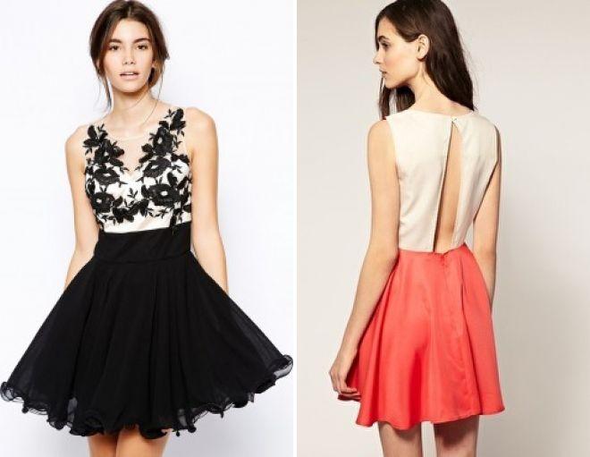 модные платья с пышной юбкой 2017