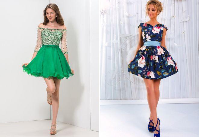 коктейльные платья с пышной юбкой