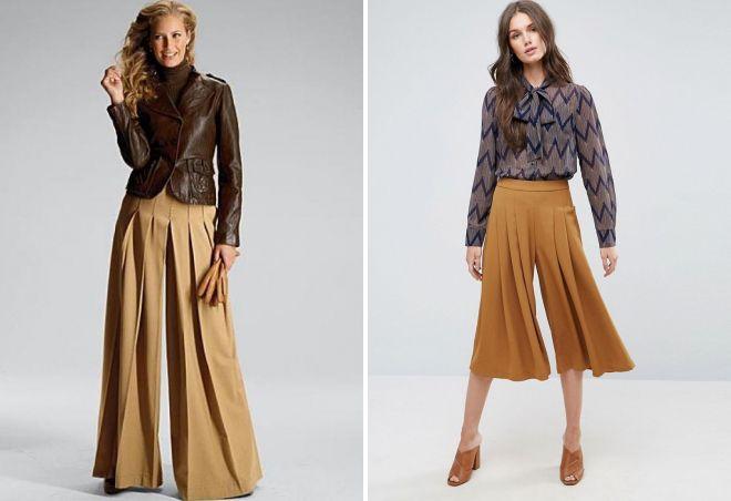 юбка брюки в складку