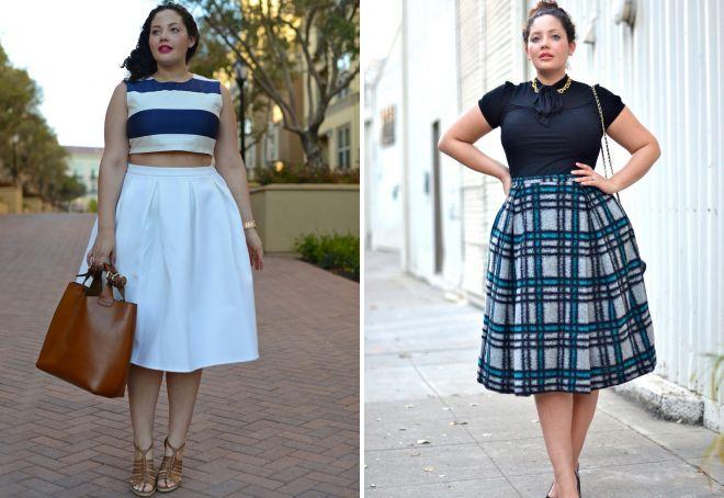 широкая юбка со складками