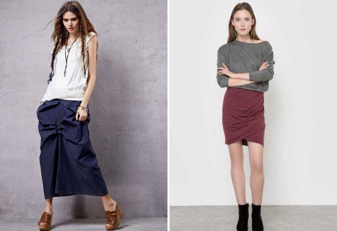 модные юбки в складку 2017