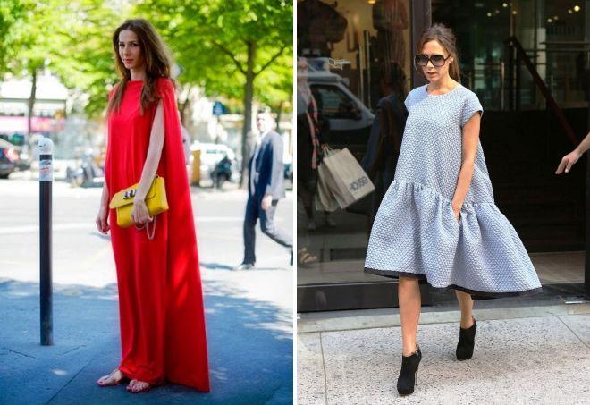 с чем носить свободное платье