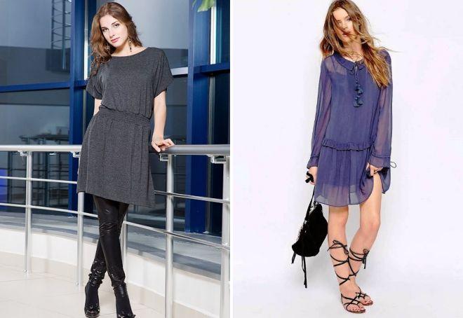 модные свободные платья