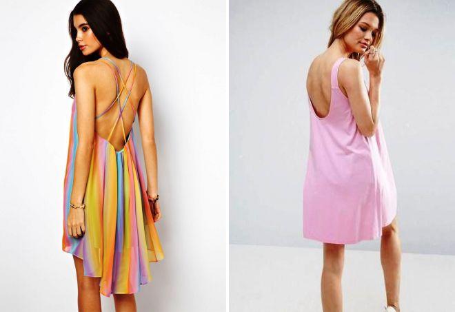 свободное платье с открытой спиной