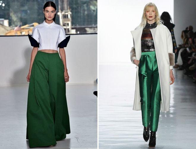 темно зеленые брюки 2017
