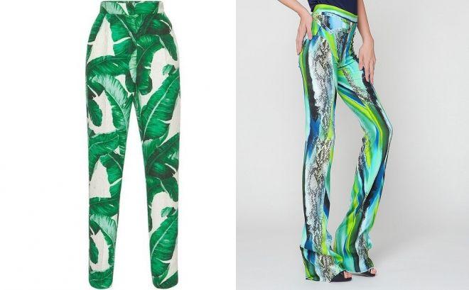зеленые летние брюки 2017 год