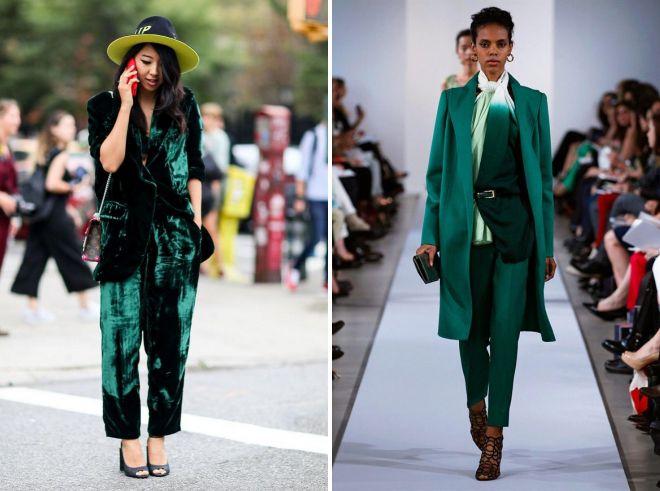 образ с зелеными брюками 2017