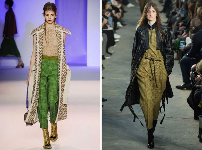 образ с зелеными брюками