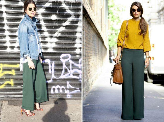 женские брюки зеленого цвета