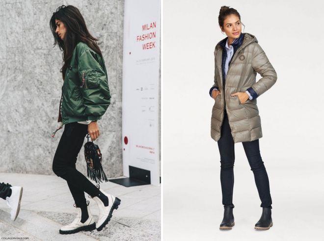 chelsea जूते और नीचे जैकेट