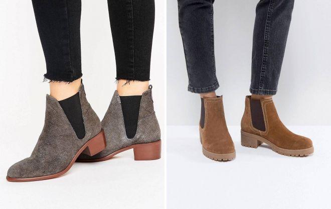 suede chelsea जूते