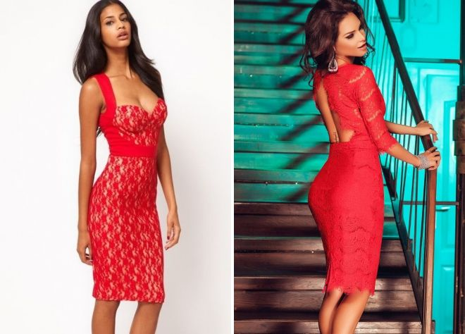 f4aed3514eece4 Rode dress-case - 60 foto s van de meest modieuze modellen voor alle ...